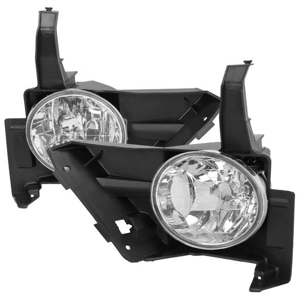 2005-2006 Honda CR-V 9006 Fog Lights Kit w/ Switch & Wiring Harness (Chrome Housing/Clear Lens)