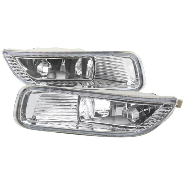2003-2004 Toyota Corolla H3 Fog Lights Kit w/ Switch & Wiring Harness (Chrome Housing/Clear Lens)
