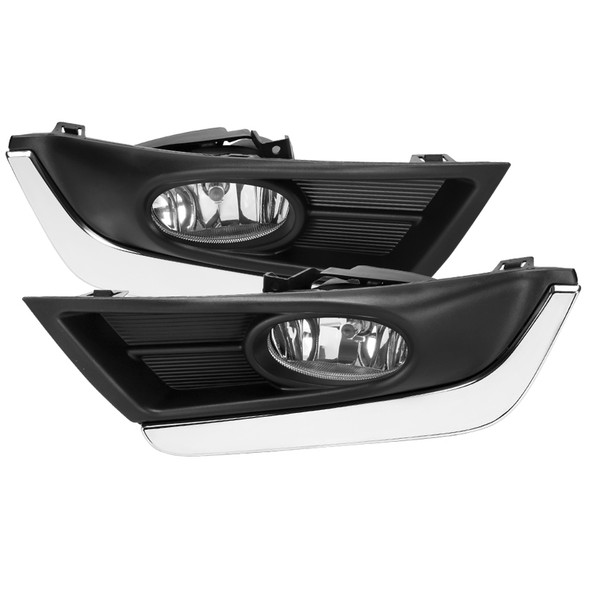 2017-2018 Honda CR-V H8 Fog Lights w/ Switch & Wiring Harness (Chrome Housing/Clear Lens)