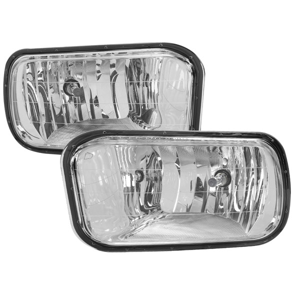 2009-2018 Dodge RAM 1500/2500/3500 H10 Fog Lights (Chrome Housing/Clear Lens)