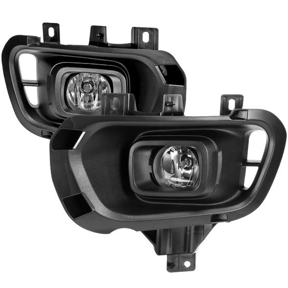2019-2020 Ford Ranger H11 Fog Lights Kit w/ Switch & Wiring Harness (Chrome Housing/Clear Lens)