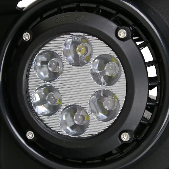2014-2015 GMC Sierra 1500 LED Fog Lights Kit w/ Switch & Wiring Harness (Chrome Housing/Clear Lens)