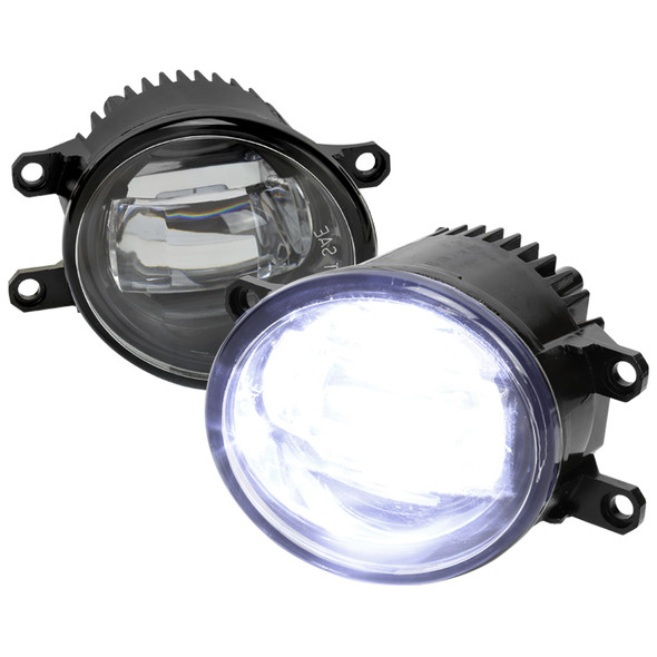 2014-2020 Toyota Tacoma/Tundra/Corolla/Highlander/RAV4 LED Fog Lights (Chrome Housing/Clear Lens)
