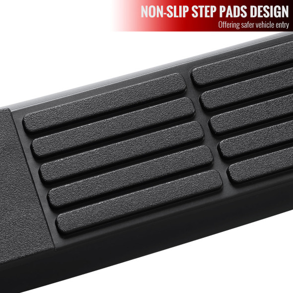 "2020-2021 Toyota Highlander 3"" Black Stainless Steel Side Step Nerf Bars"