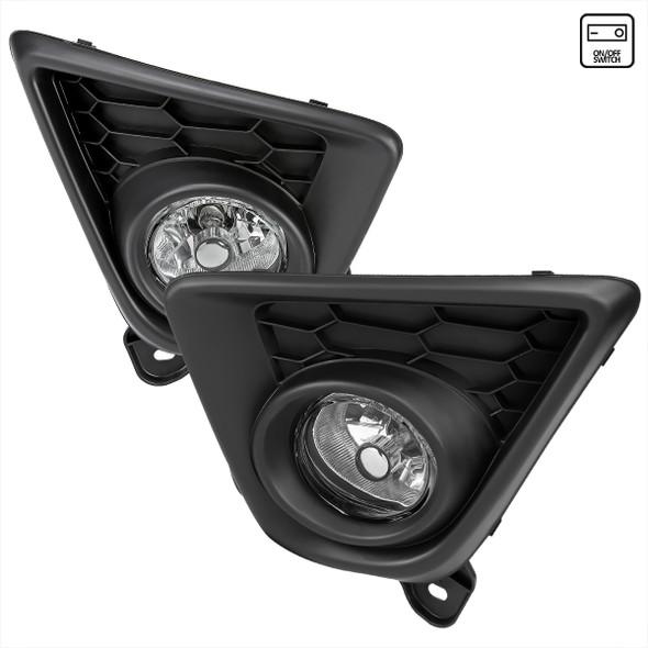 2013-2016 Mazda CX-5 H11 Fog Lights Kit w/ Switch & Wiring Harness (Chrome Housing/Clear Lens)