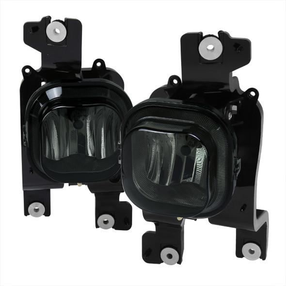 2008-2010 Ford F-250/F-350/F-450/F-550 Super Duty H10 Fog Lights (Chrome Housing/Smoke Lens)