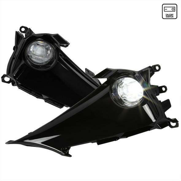 2019-2021 Toyota Corolla Hatchback LED Fog Lights Kit (Chrome Housing/Clear Lens)