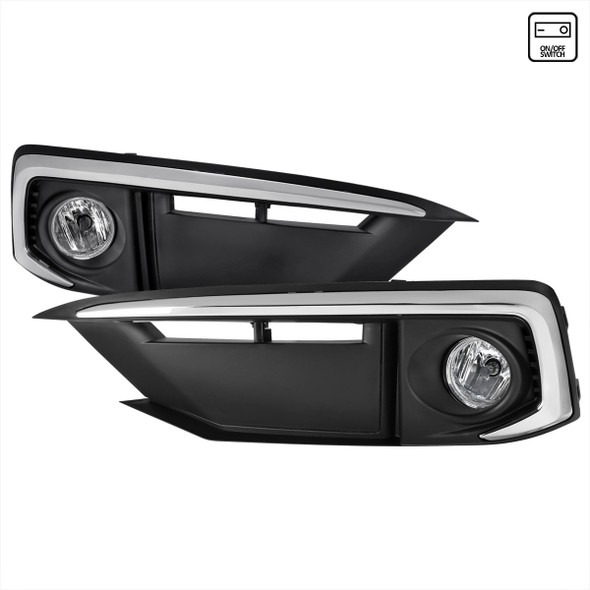 2019-2020 Honda Civic Sedan/Coupe H8 Fog Lights Kit (Chrome Housing/Clear Lens)