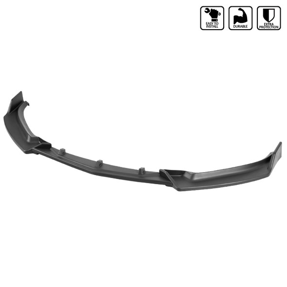 2014-2018 Mazda 3 Matte Black Polypropylene 3PC Bumper Lip