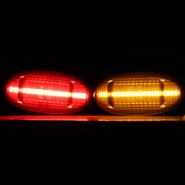 2011-2019 Ford F-250/ F-350/ F-450/ F-550 SuperDuty 4PC LED Side Markers Set (Black Housing/Smoke Lens)