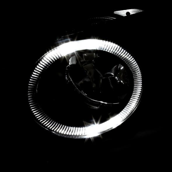 2003-2005 Mazda 6 Sedan H3 Halo Ring Fog Lights Kit (Chrome Housing/Clear Lens)