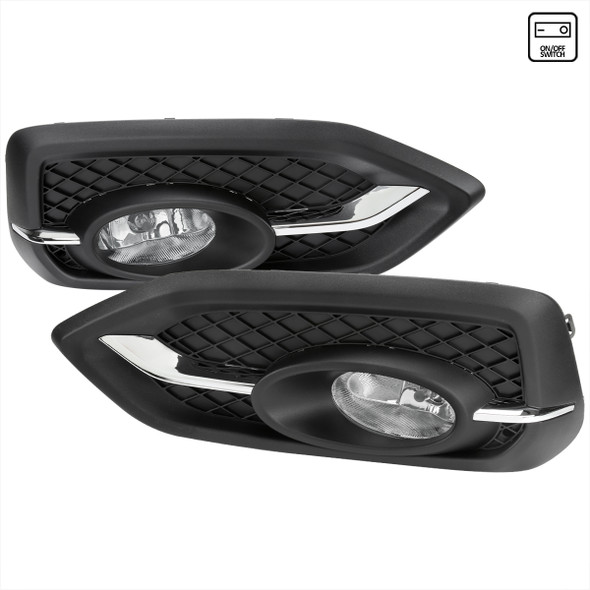 2014-2015 Honda Civic Coupe H11 Fog Lights Kit (Chrome Housing/Clear Lens)