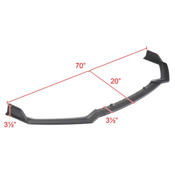 2018-2020 Infiniti Q50 Sport Matte Black Polypropylene 3PC Bumper Lip Set