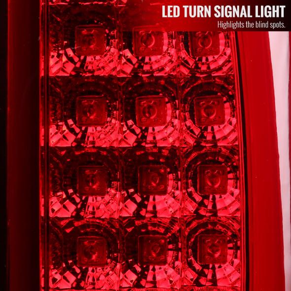 2002-2006 Dodge RAM 1500 2500 3500 LED Tail Lights (Chrome Housing/Red Lens)