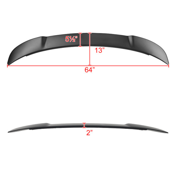 2015-2021 Dodge Charger Matte Black ABS Hellcat Style Rear Spoiler