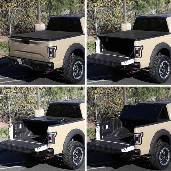 "2009-2018 Dodge RAM 1500 2500 3500 / 2019-2021 RAM Classic 6'4"" Bed Hard Tri-Fold Tonneau Cover"