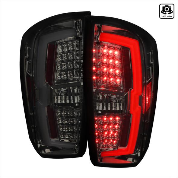 2016-2021 Toyota Tacoma LED Bar Tail Lights (Chrome Housing/Smoke Lens)