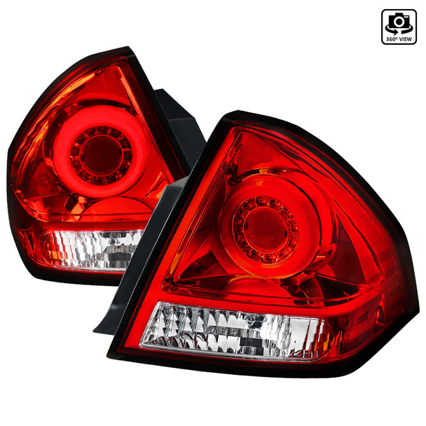 2006-2013 Chevrolet Impala/ 2014-2016 Impala Limited LED Tail Lights (Chrome Housing/Red Lens)