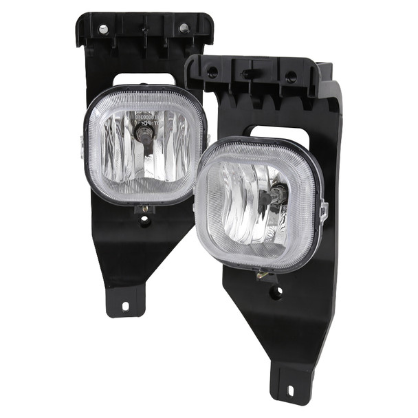 2005-2007 Ford F-250/F-350/Excursion H10 Fog Lights (Chrome Housing/Clear Lens)