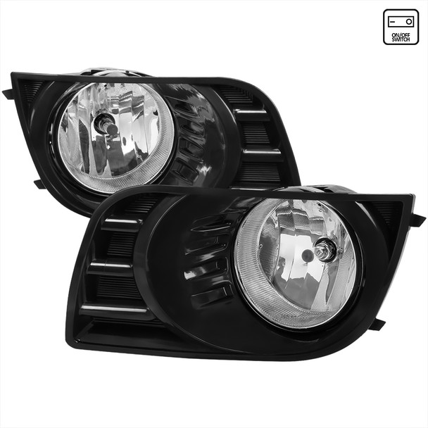 2008-2017 Toyota Sequoia H10 Fog Lights w/ Switch & Wiring Harness (Chrome Housing/Clear Lens)