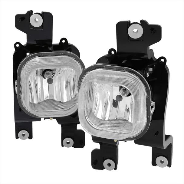 2008-2010 Ford F-250/F-350/F-450/F-550 Super Duty H10 Fog Lights (Chrome Housing/Clear Lens)