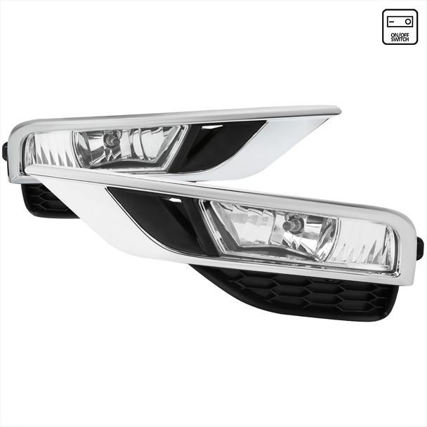 2015-2016 Honda CR-V H8 Fog Lights w/ Switch & Wiring Harness (Chrome Housin/Clear Lens)