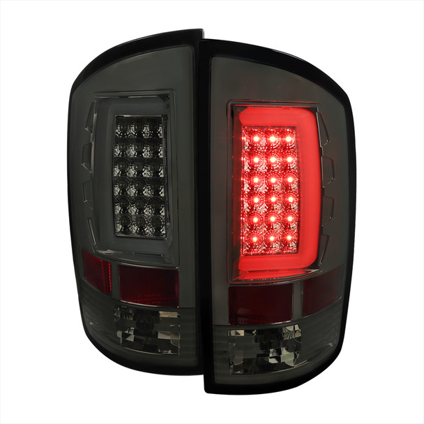 2002-2006 Dodge RAM 1500 2500 3500 LED Tail Lights -G2 (Chrome Housing/Smoke Lens)