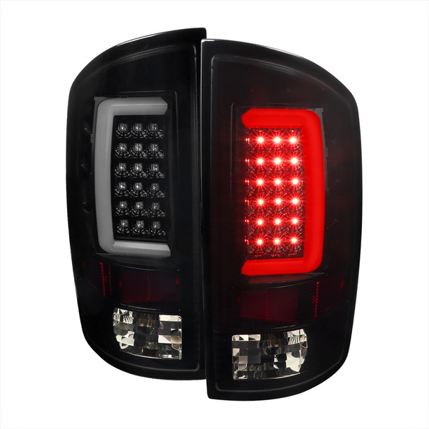 2002-2006 Dodge RAM 1500 2500 3500 LED Tail Lights -G2 (Glossy Black Housing/Smoke Lens)