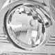 1999-2002 Chevrolet Silverado 1500 2500/ 2000-2006 Tahoe Suburban 1PC Factory Style Headlights w/ SMD LED Light Strip & Bumper Lights (Chrome Housing/Clear Lens)