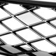2016-2018 Honda Civic FK8 TR Style Glossy Black ABS Mesh Grille w/ Eyebrows