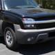 2002-2006 Chevrolet Avalanche 1500/2500 Factory Style Headlights w/ Bumper Signal Lights (Matte Black Housing/Clear Lens)