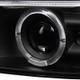 1999-2002 Chevrolet Silverado/ 2000-2006 Tahoe Suburban Dual Halo Projector Headlights (Matte Black Housing/Clear Lens)