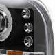 1999-2004 Ford Excursion F-250 F-350 F-450 F-550 Dual Halo Projector Headlights (Matte Black Housing/Clear Lens)