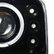 1999-2004 Ford F-250/F-350/F-450/F-550/Excursion Dual Halo Projector Headlights (Jet Black Housing/Clear Lens)