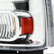 2005-2007 Ford F-250/F-350/F-450/F-550/Excursion Crystal Headlights (Chrome Housing/Clear Lens)