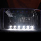 1999-2004 Ford F-250/F-350/F-450/F-550/Excursion Factory style Headlights w/ SMD LED Light Strip (Matte Black Housing/Clear Lens)