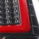 2009-2018 Dodge RAM Red C-Bar LED Tail Lights (Jet Black Housing/Clear Lens)