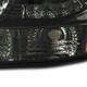 1999-2002 Chevrolet Silverado 1500 2500/ 2000-2006 Tahoe Suburban 1PC Factory Style Headlights w/ SMD LED Light Strip & Bumper Lights (Chrome Housing/Smoke Lens)