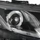 2012-2013 Honda Civic Coupe/ 2012-2015 Civic Sedan Dual Halo Projector Headlights w/ LED Bar (Matte Black Housing/Clear Lens)