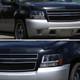 2007-2013 Chevrolet Avalanche/ 2007-2014 Tahoe Suburban LED C-Bar Projector Headlights -RS (Matte Black Housing/Clear Lens)