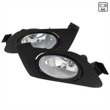 Pair Clear Bumper Driving Fog Light Assemblies For Honda Accord 4DR Sedan 2003 2004 2005 2006 2007