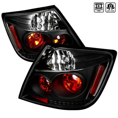 Spec-D Tuning LT-CV062BB-TM Honda Civic 2Dr Coupe Glossy Black Smoked ALtezza Tail Brake Lights