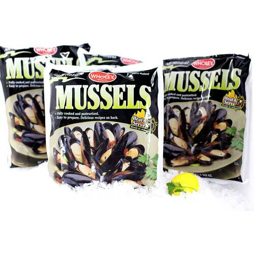Mussels Fully Cooked, Frozen (4 Lb.) Wholey's