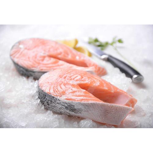 Canadian Salmon Steaks (3 Lb. Avg) Bone-In Wholey's