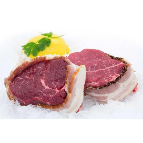Two 7-8 Oz. Bacon Wrapped Filet Mignon Wholey's