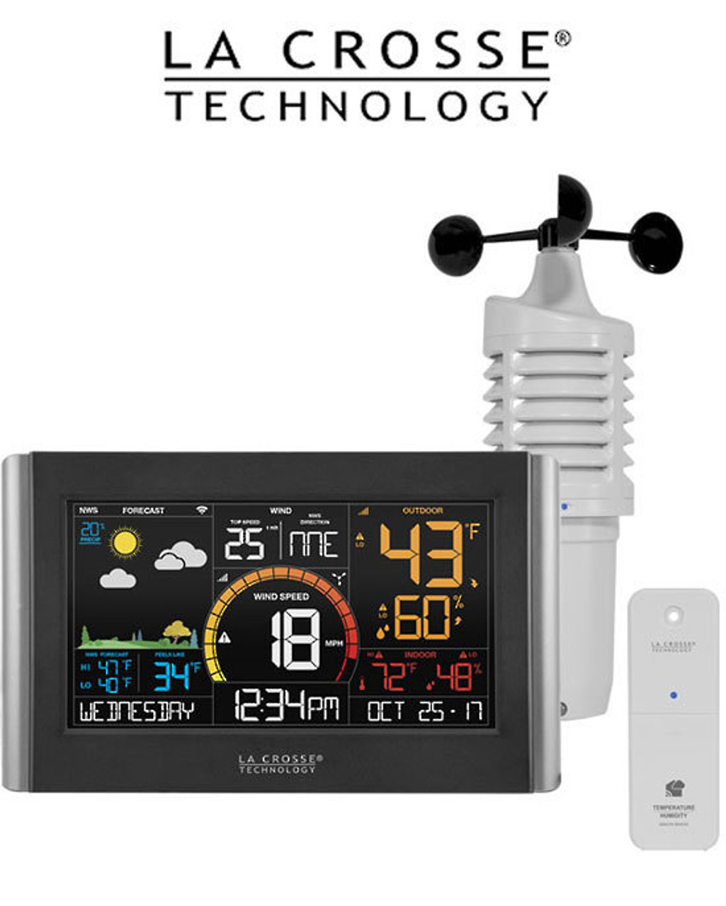 La Crosse V21-WTH Wireless WiFi Remote Monitoring Wind Speed Station