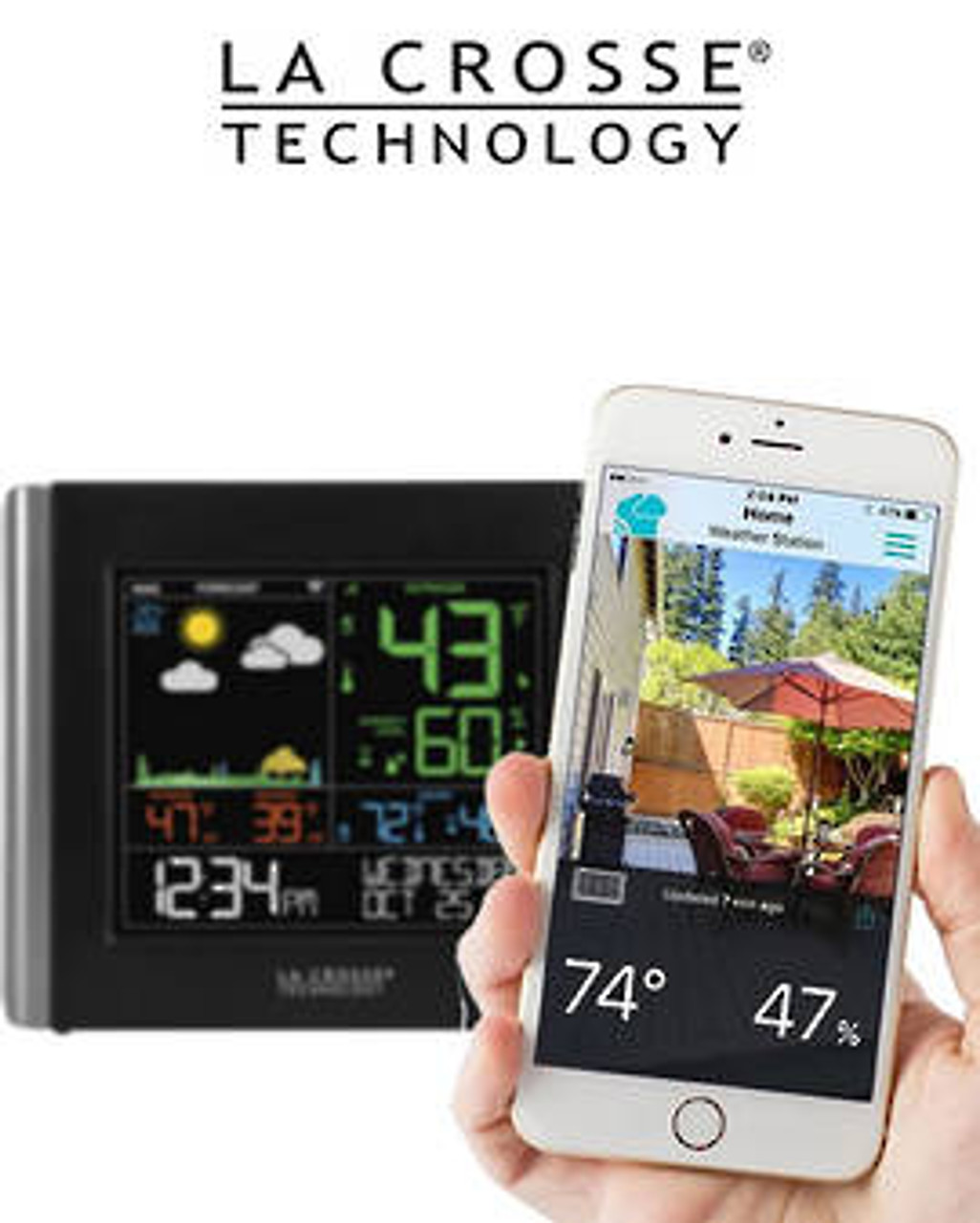 La Crosse V10-TH Remote Monitoring WiFi Colour Weather Station