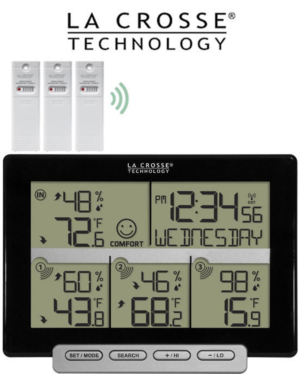 La Crosse Weather Station with 3 Remote Sensors 308-1412-3TX
