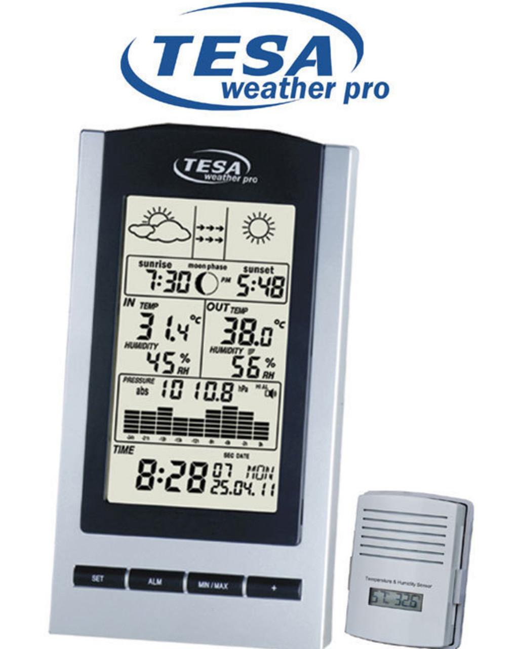 TESA  WS1151 Moon Phase Desktop Weather Station