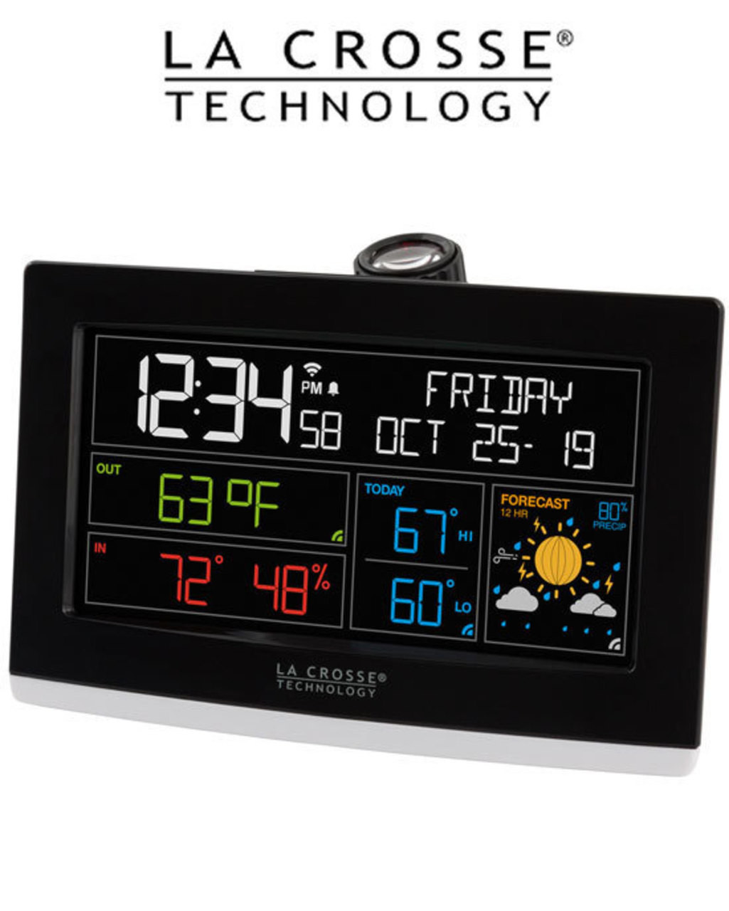 La Crosse C82929 WiFi Projection Alarm Clock with AccuWeather
